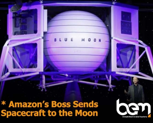 Amazon's boss sends spacecraft to the Moon
